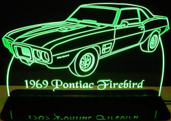 1969 Pontiac Firebird (Desk Sign/Plaque)