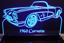 1960 Chevy Corvette Convertible (Desk Sign/Plaque)