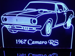 1967 Chevy Camaro RS (Desk Sign/Plaque)