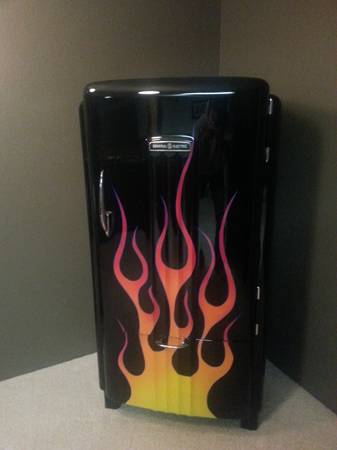 Classic Flaming Fridge