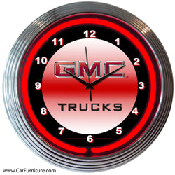 GMC Red Neon Clock