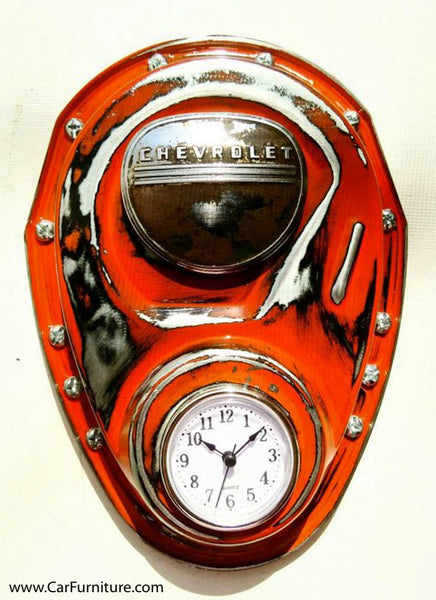 Vintage Chevy Pickup Truck Timing Cover Clock