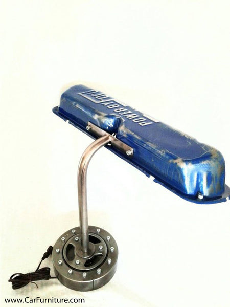 "Vintage Blue ""Power by Ford"" Valve Cover Lamp"