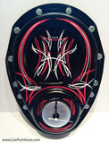 Pinstripes Chevy Silverado Metal Wall Clock