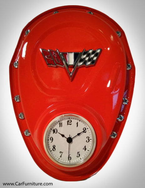 Chevrolet Corvette Flags Timing Cover Clock