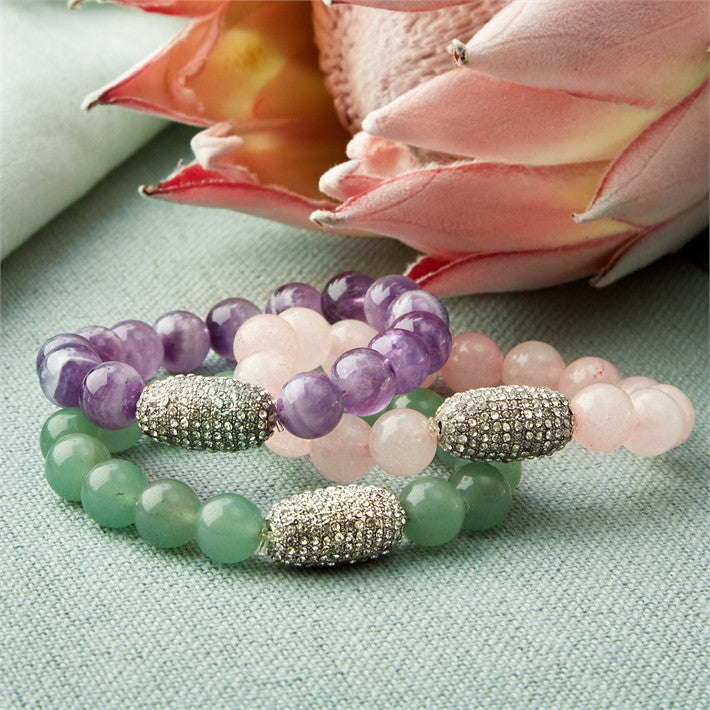 Stretch Stone Bead Bracelet