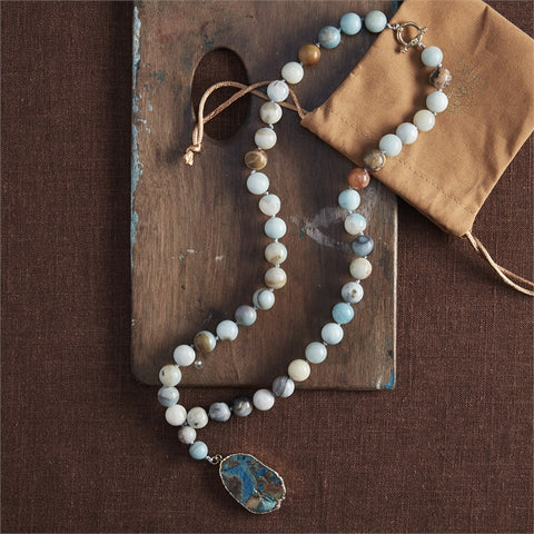 Beaded Agate Necklace