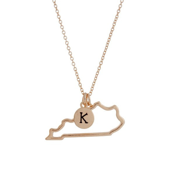 Kentucky State Necklace-Gold