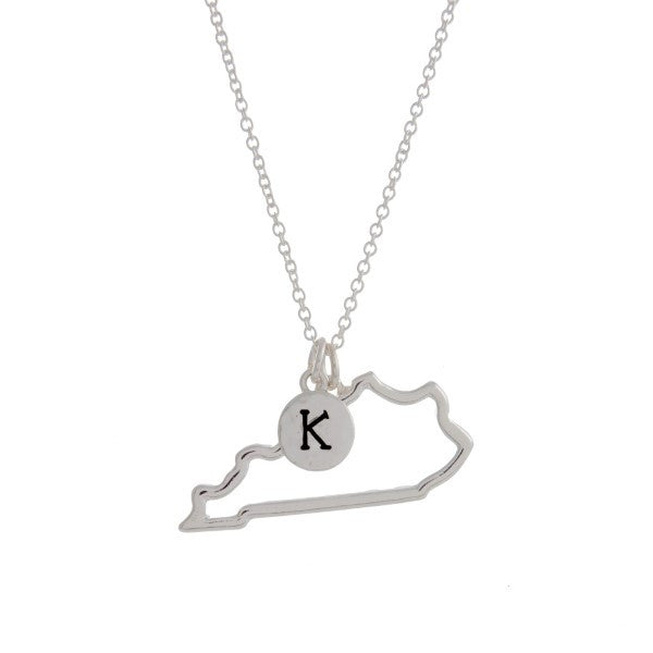 Kentucky State Necklace-Silver