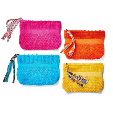 Terry Cloth Pouch w/Tassel Zipper