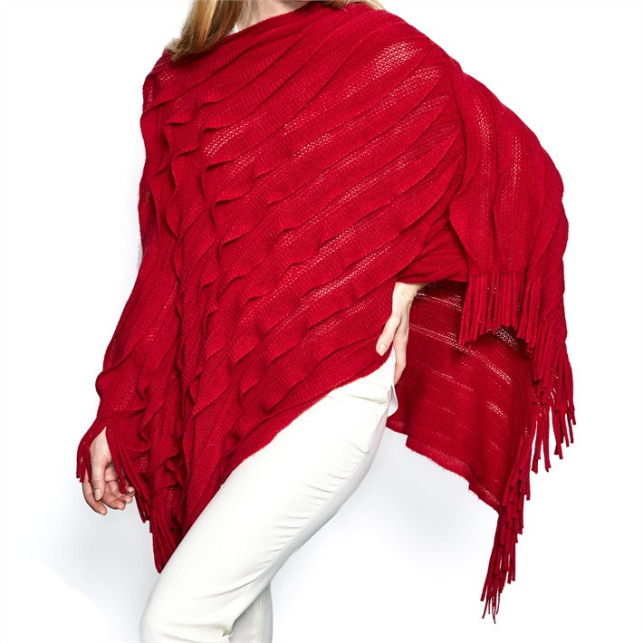 Red Infinity Shawl