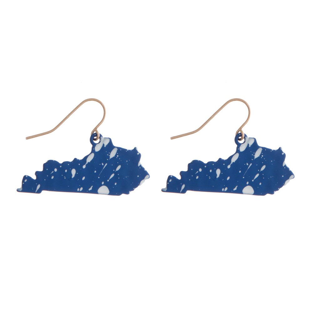 Kentucky Splatter Earrings