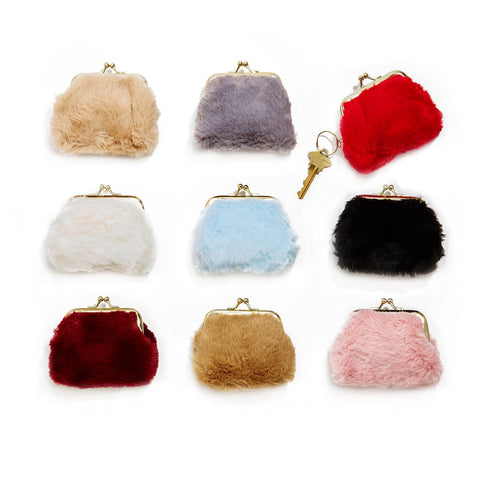 Faux Fur Coin Purse