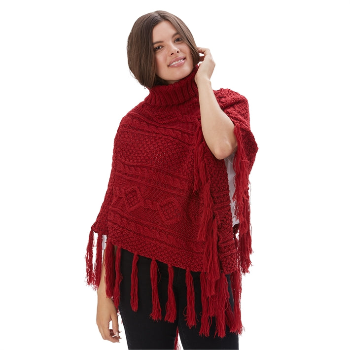 Knit Turtleneck Shawl