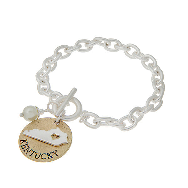 Two Tone Toggle Kentucky Bracelet