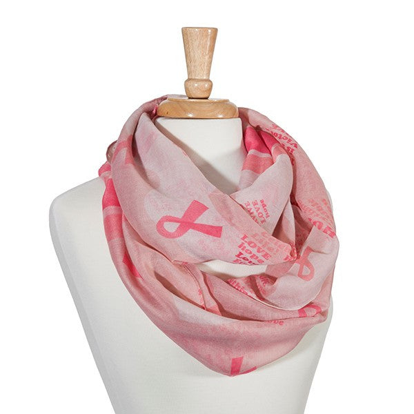 Pink Infinity Breast Cancer Awareness Scarf