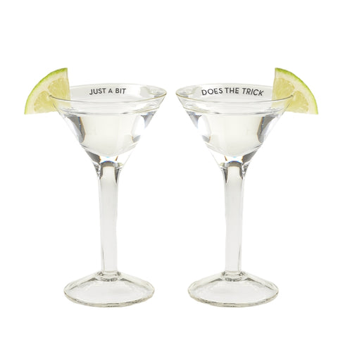 Martini Shot Glass Set of Two