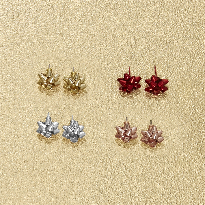Gift Bow Stud Earring