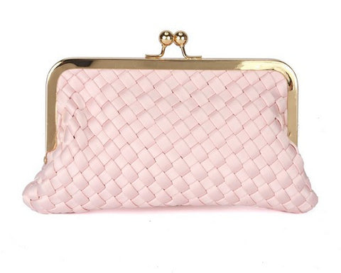 Beau Kiss Lock Clutch-Blush