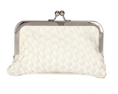 Beau Kiss Lock Clutch-Ivory