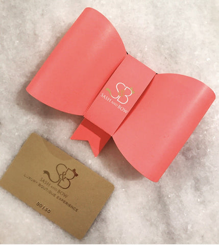 Sash & Bow Physical Gift Card
