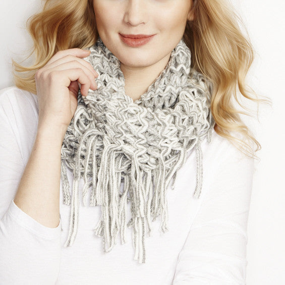 Grey Shades Two Tone Infinity Scarf