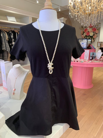 Black Short Sleeve Blouse