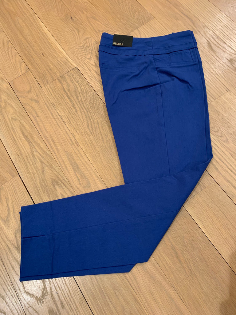 Royal Blue Renuar Ankle Cut Pant