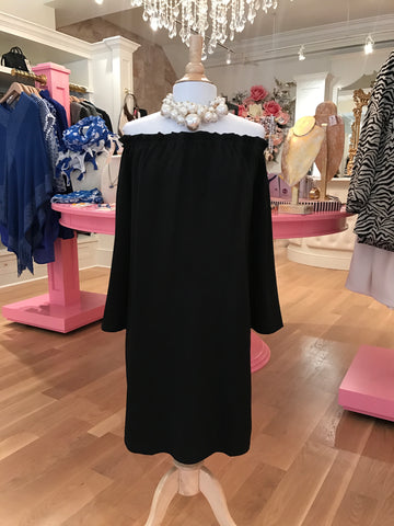Betty Dress Black Crepe
