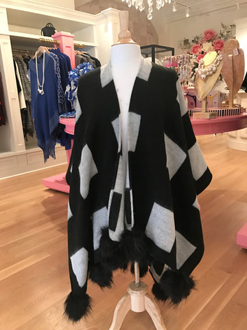 Alfie Wrap Black/White