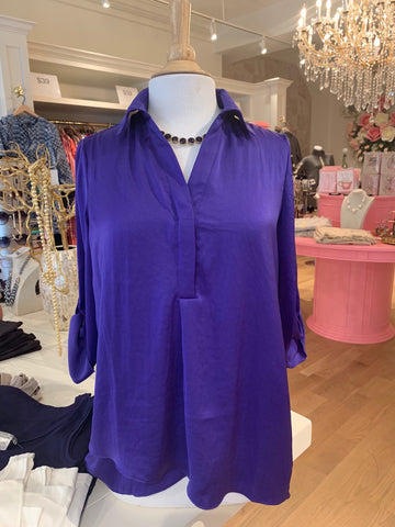 Purple AirFlow Blouse