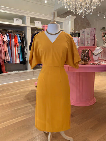 Butternut Crepe Dress