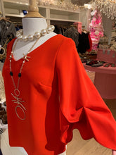 Load image into Gallery viewer, Red Blouse w/Ruffled Sleeve