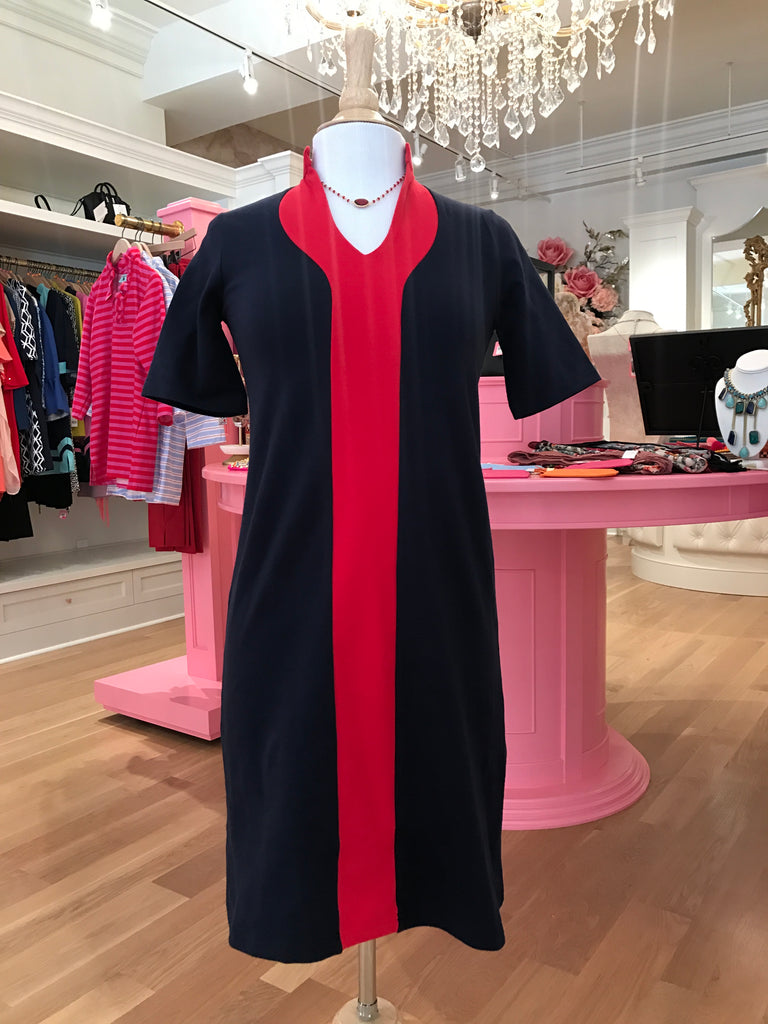 Navy & Red Ponte Dress