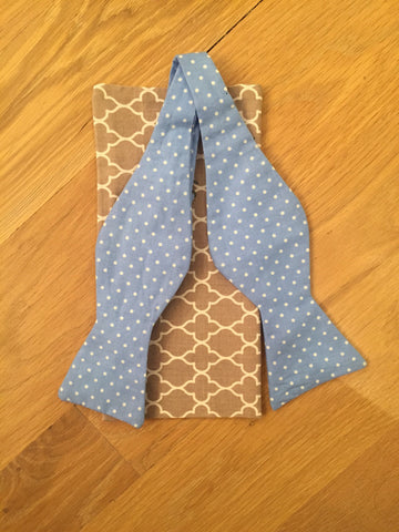 The Peaceful Polka-Dot Bow Tie & Pocket Square