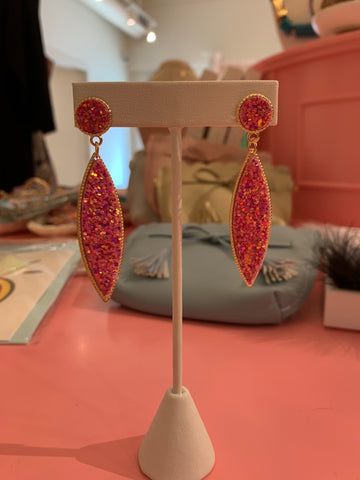 Druzy Dangle Earring