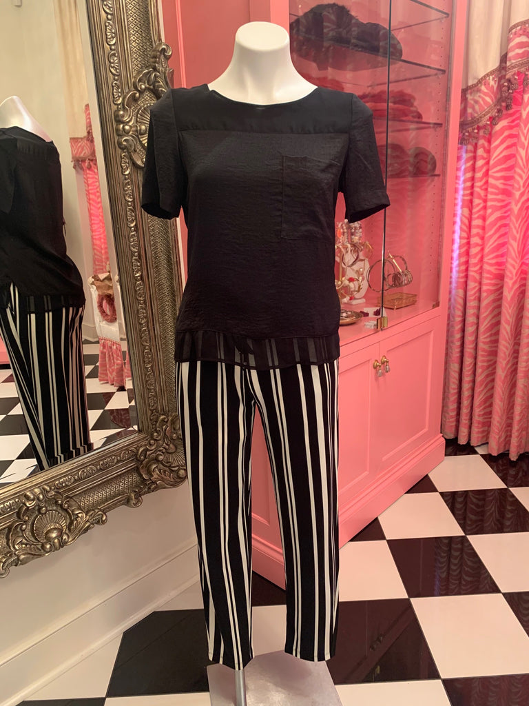 Black & White Stripe Pant