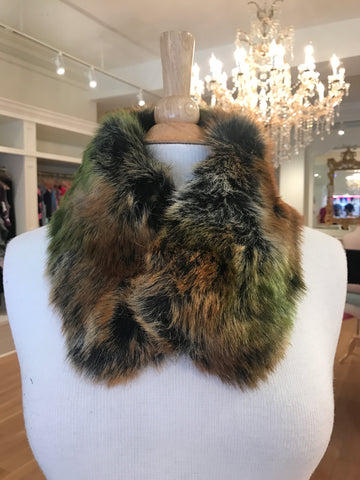 Color Faux Fur Neck Warmer