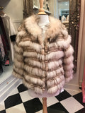 Cream/Brown Fur Jacket