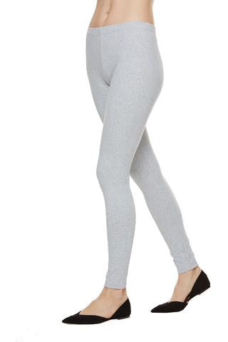 Joan Vass Cloud Heather Gray Legging