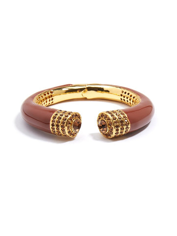 Brown Rhinestone Bangle