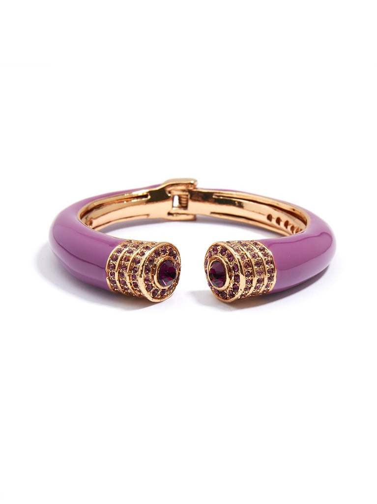 Purple Rhinestone Bangle