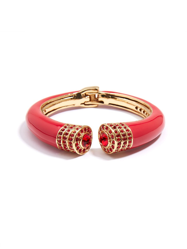 Red Rhinestone Bangle