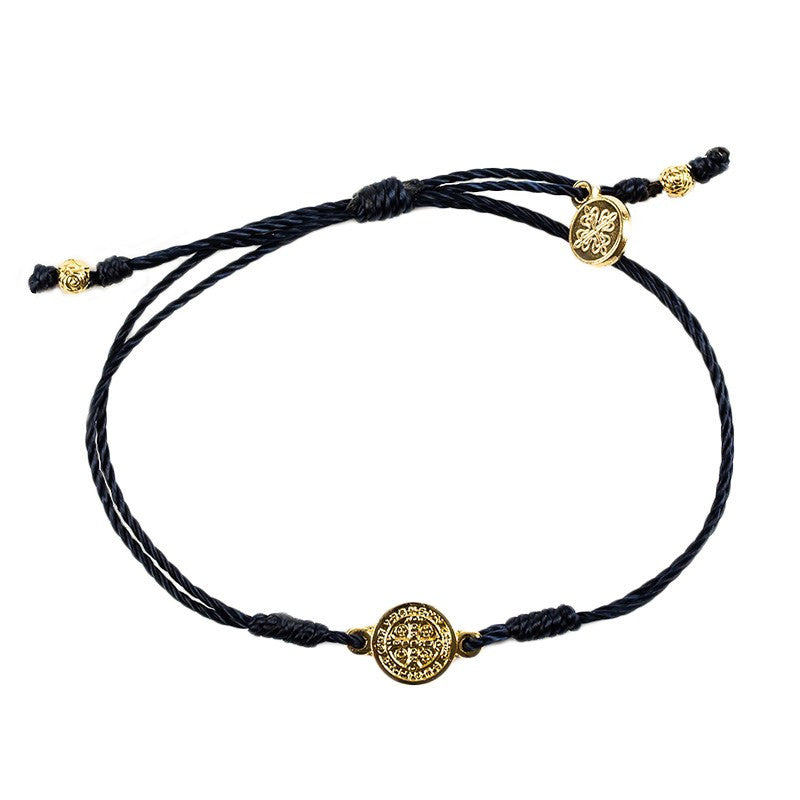 Breathe Bracelet Black w/Gold