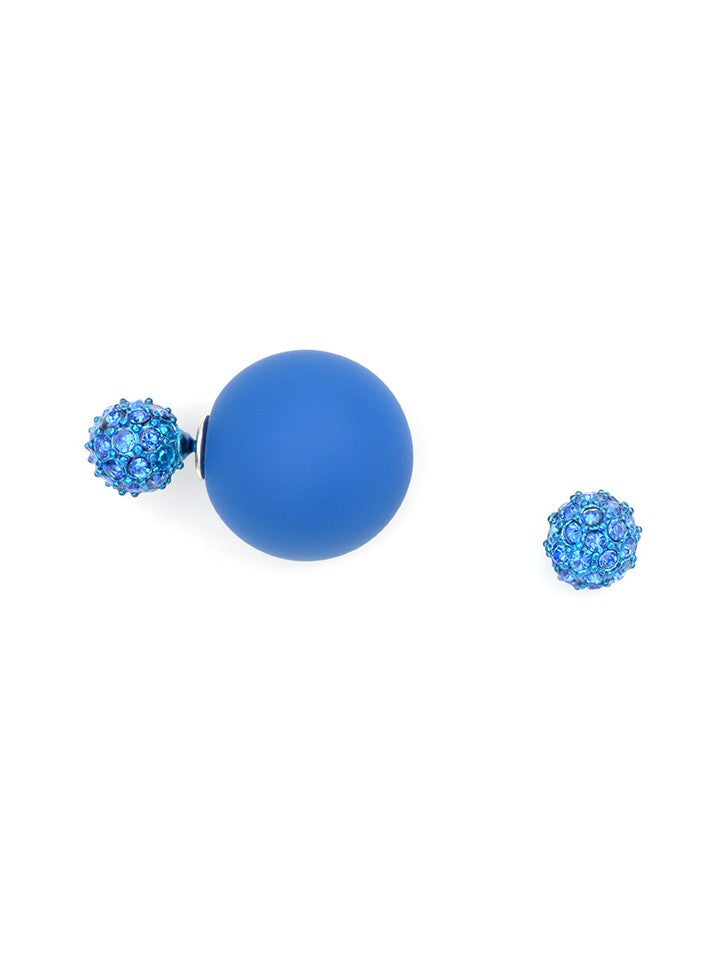 Cobalt Floating Earrings