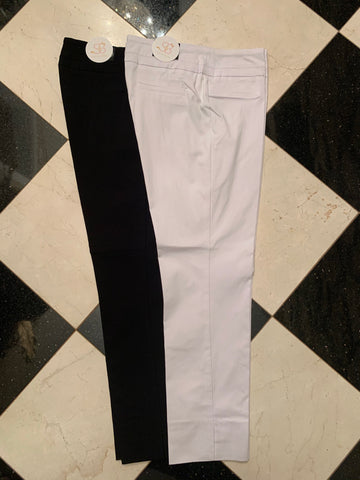 Black & White Ankle Cut Pant