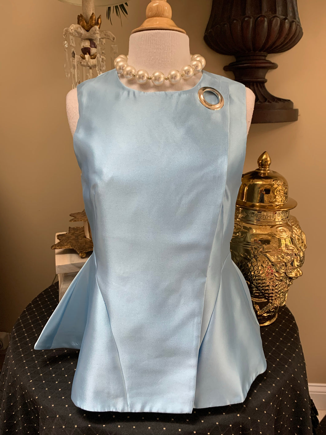 Baby Blue Sleeveless Top