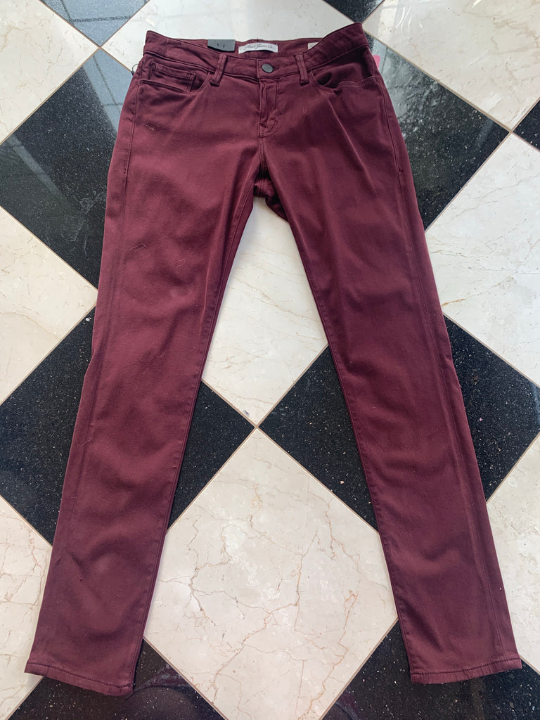 Burgundy Suede Jeans