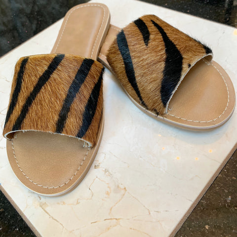 Tiger Calf Hair Sandal
