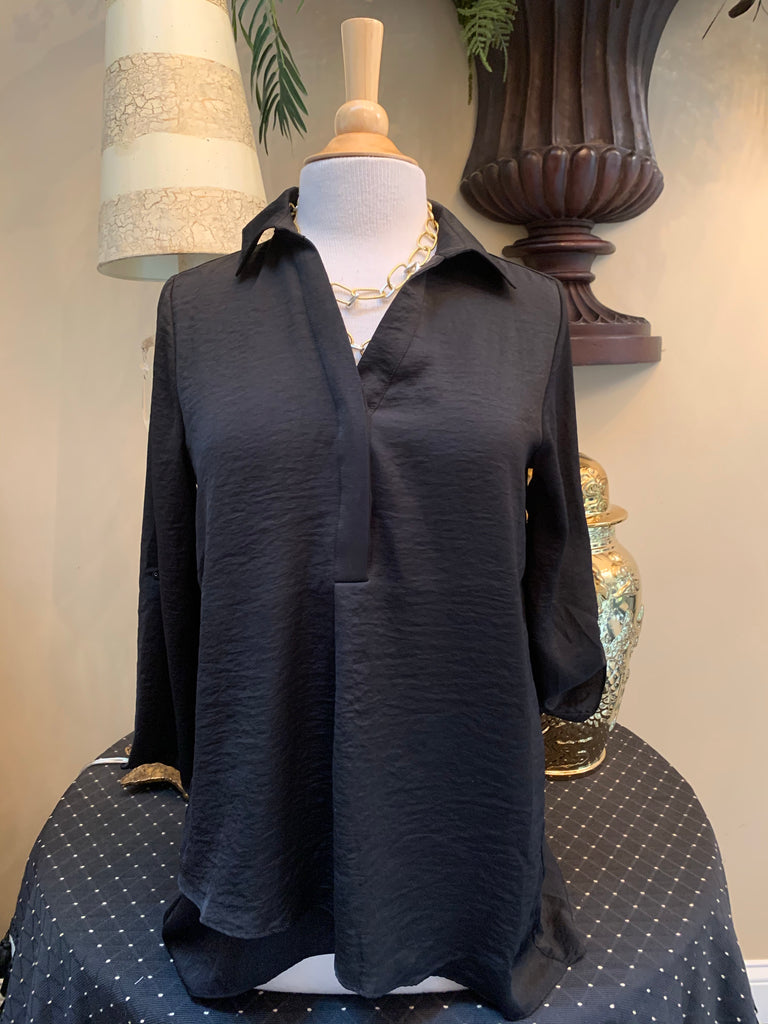 Black Airflow Blouse